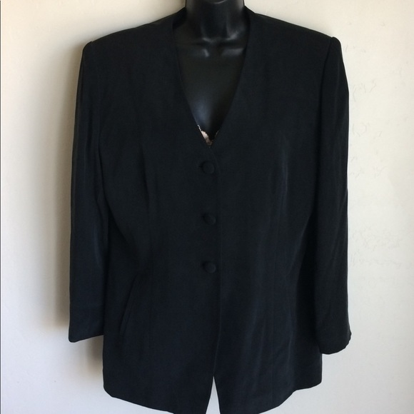 Travis Ayers Jackets & Blazers - Black Silk Lined Jacket Travis Ayers Size 12